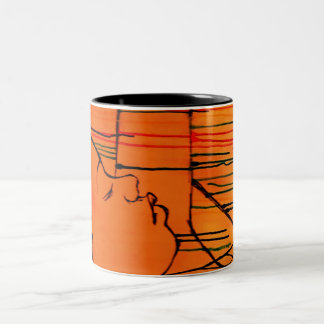 Creole Rain - Orange Horizon Two-Tone Mug