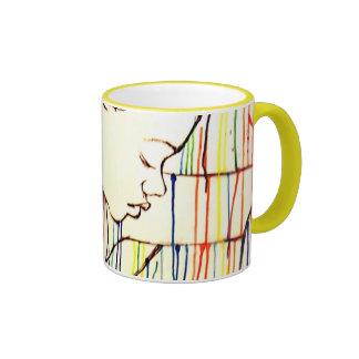 Creole Rain - White Ringer Mug