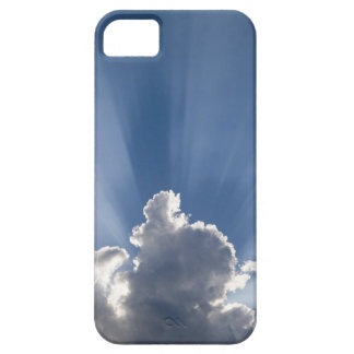 Crepuscular or God's rays streak past cloud. iPhone 5 Cases
