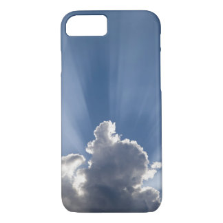 Crepuscular or God's rays streak past cloud. iPhone 8/7 Case