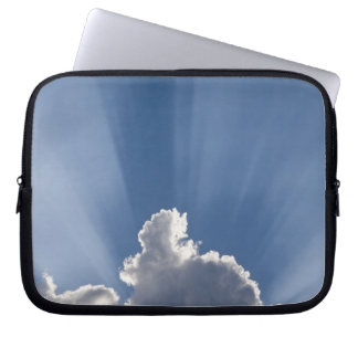 Crepuscular or God's rays streak past cloud. Laptop Sleeve