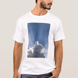 Crepuscular or God's rays streak past cloud. T-Shirt