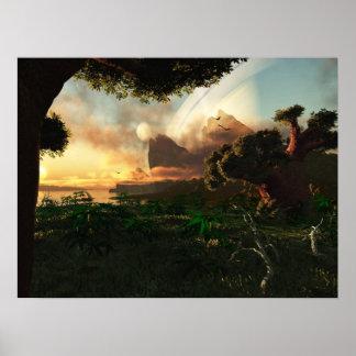 Crepuscular Sky Poster