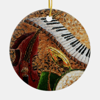 Crescent City Piano Round Christmas Ornament 2012