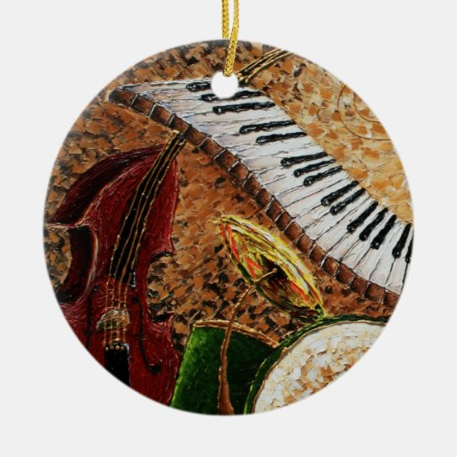 Crescent City Piano Round Christmas Ornament 2012