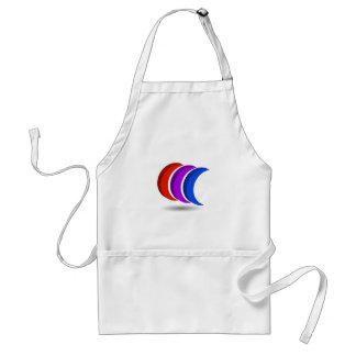 Crescent moon artwork standard apron