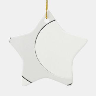 Crescent Moon Ceramic Star Decoration