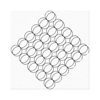 Crescent Moon Geometric Pattern Black and White Canvas Print