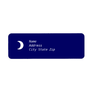 Crescent Moon Label Return Address Label