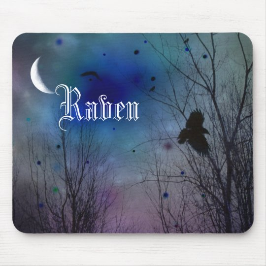 Crescent Moon Night Mouse Mat