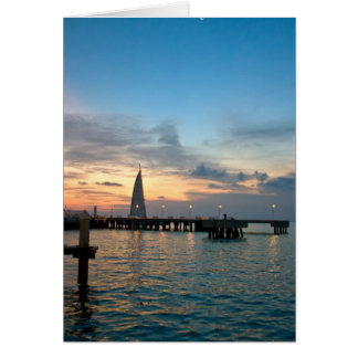 Crescent-Moon-Over-Key-West-Dock - Customized Card