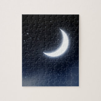 Crescent Moon over Starry Sky2 Jigsaw Puzzle