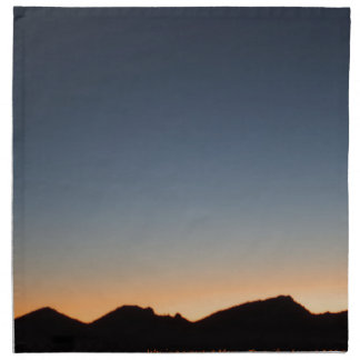 Crescent Moon over Sunset Napkin