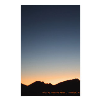 Crescent Moon over Sunset Stationery
