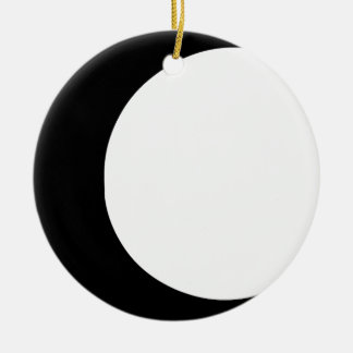 Crescent Moon Round Ceramic Decoration