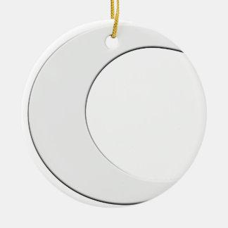 Crescent Moon Round Ceramic Decoration