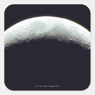 Crescent Moon Square Sticker