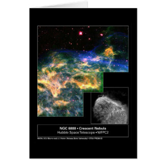 Crescent Nebula 6888 Hubble Telescope Card