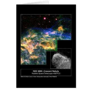Crescent Nebula 6888 Hubble Telescope Greeting Card