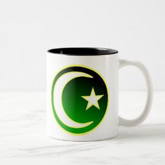Crescent  & Star of Islam Two-Tone Mug