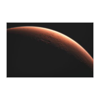 Crescent Sunrise on Mars the Red Planet Canvas Prints