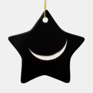 Crescent Winter Moon Christmas Ornament