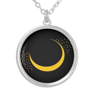 Cresent Moon and Stars necklace By KABFA Designs