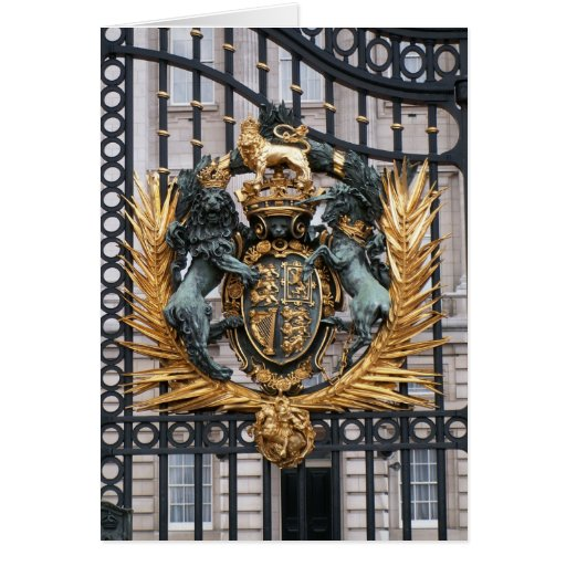 Crest Buckingham Palace London England Cards