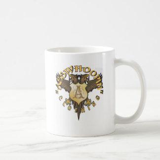 crest design glassware mug