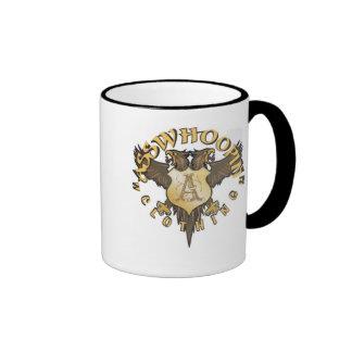 crest design glassware ringer mug