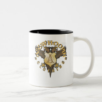 crest design glassware Two-Tone coffee mug