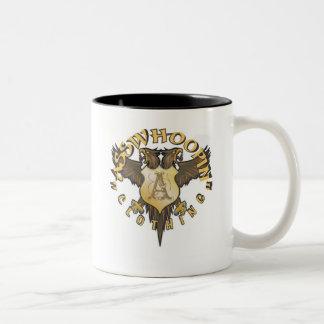 crest design glassware Two-Tone mug