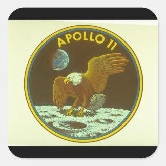Crest for Apollo Mission_Space Square Sticker
