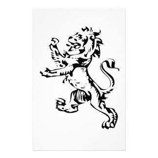 crest lion custom stationery
