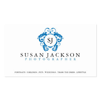 Crest Logo Photographers Business Card
