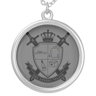 Crest Round Pendant Necklace