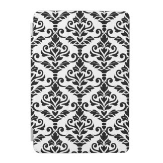 Cresta Damask Big Pattern Black on White iPad Mini Cover