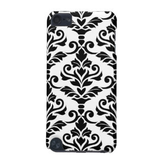 Cresta Damask Large Pattern Black on White iPod Touch 5G Cover