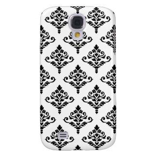 Cresta Damask Pattern (B) Black Galaxy S4 Case