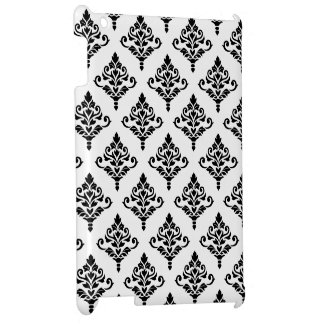 Cresta Damask Pattern (B) Black iPad Covers