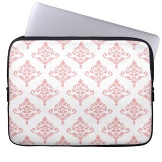 Cresta Damask Pattern (B) Pink Laptop Sleeve