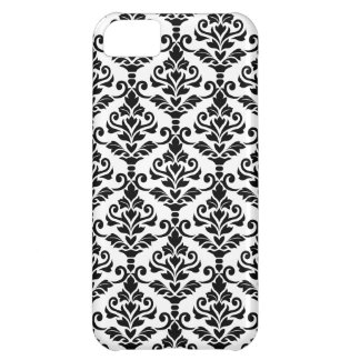 Cresta Damask Pattern Black on White iPhone 5C Case