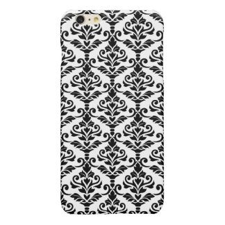Cresta Damask Pattern Black on White iPhone 6 Plus Case