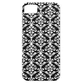 Cresta Damask Pattern White on Black Case For The iPhone 5