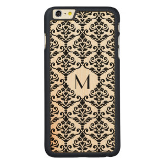 Cresta Damask Ptn BW (Personalized) Carved Maple iPhone 6 Plus Case