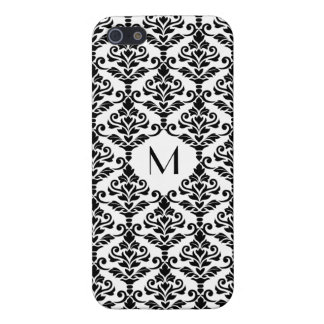 Cresta Damask Ptn BW (Personalized) iPhone 5 Covers