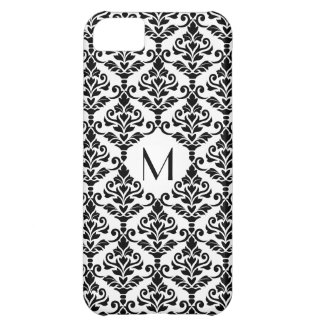 Cresta Damask Ptn BW (Personalized) iPhone 5C Case