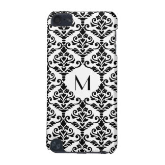 Cresta Damask Ptn BW (Personalized) iPod Touch (5th Generation) Covers