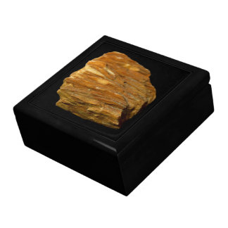 Crested Barite Mineral Photo on Black Gift Box