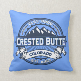 Crested Butte Blue Cushion